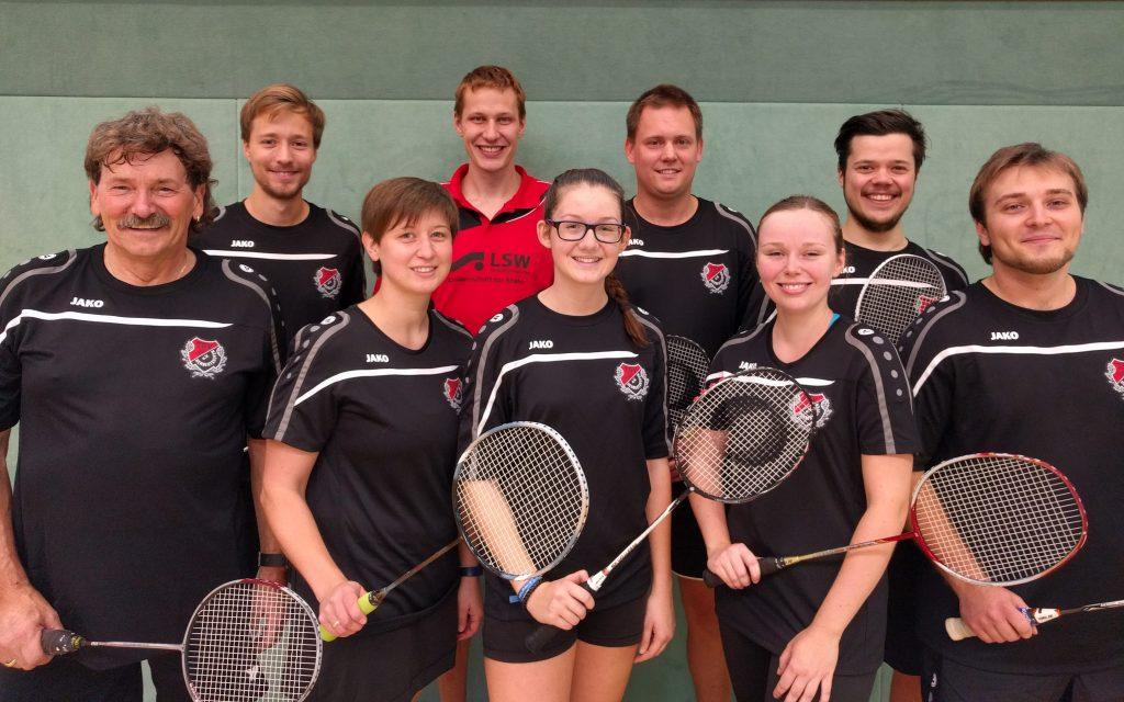 Die Badminton-Mannschaft 2016/17